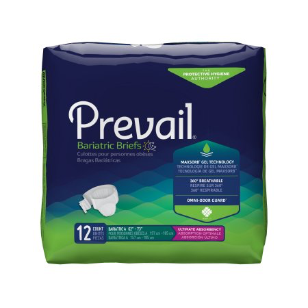 Prevail Adult Bariatric Brief, Size A, Heavy Absorbency