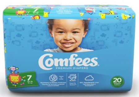 Comfees Baby Diapers Size 7 CMF-7