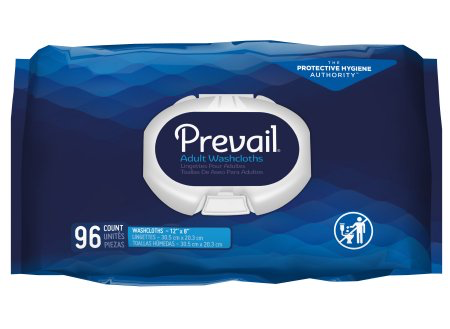 Prevail Pre-moistened Washcloths, Scented, Soft Pack with Press Open Lid