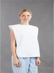 Clothing Protector White 18x30 Snap Closure