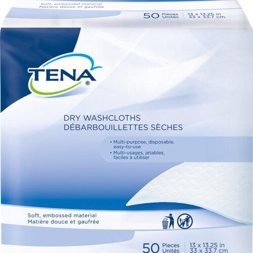 "TENA® Dry Washcloths, 13"" x 13.25"", 74500"