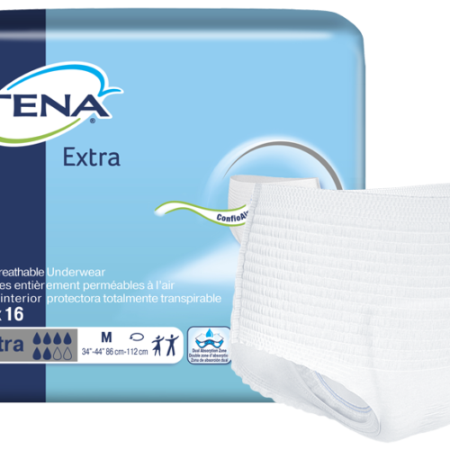 TENA® Extra Protective Incontinence Underwear, Moderate Absorbency, Medium, 72232