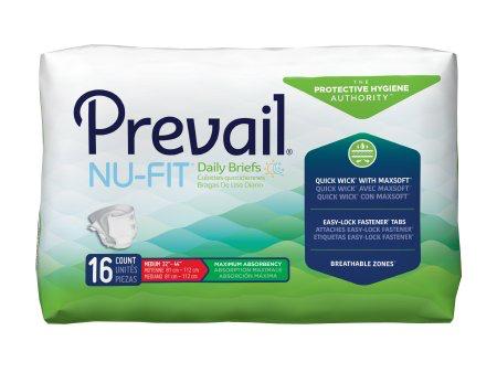 Prevail NU-FIT Adult Brief, Medium, Heavy Absorbency