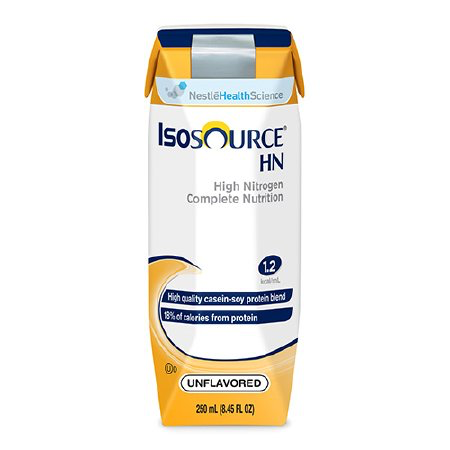 Isosource HN 1.2 Cal Tube Feeding Formula by Nestle - 250ml Carton - Ready to Use - 18450000