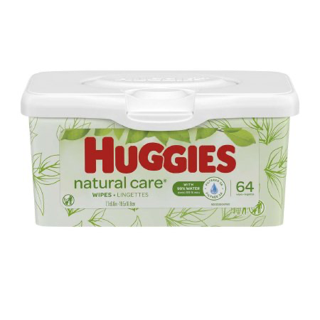 Huggies Unscented Baby Wipes - Natural Care Aloe 64 wipes per tub #39301