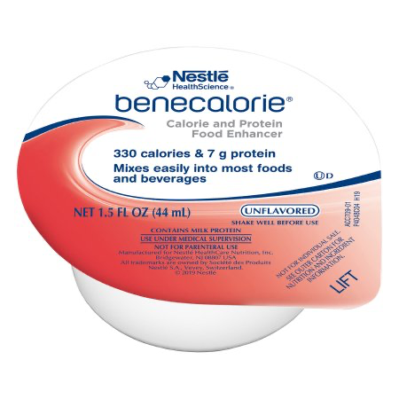 Benecalorie by Nestle - Calorie and Protein Food Enhancer - Unflavored 1.5oz cup - Ready To Use