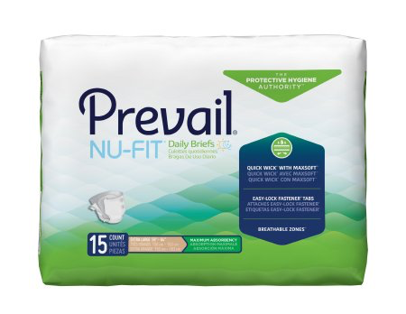 Prevail NU-FIT Adult Brief, X-Large, Heavy Absorbency