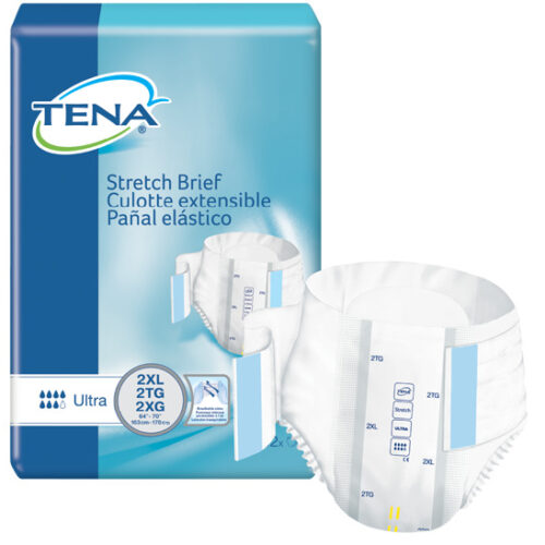 TENA Stretch™ Ultra Incontinence Brief, Moderate Absorbency, 2X-Large, 61390