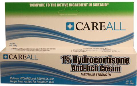 Hydrocortisone (Cortaid Substitute) Cream 1%, 1oz. Tube - HYD1