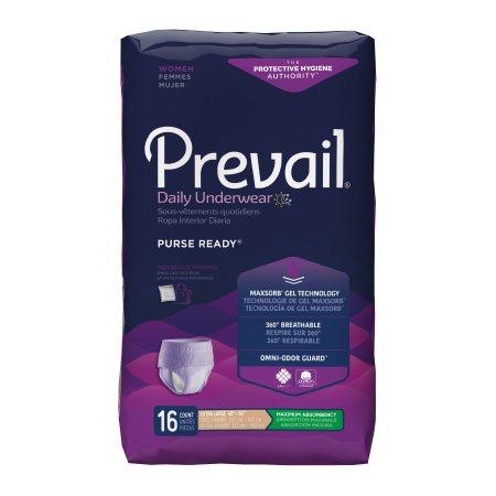 Prevail Women's PurseReady Pull On Underwear with Tear Away Seams, X-Large, Heavy Absorbency