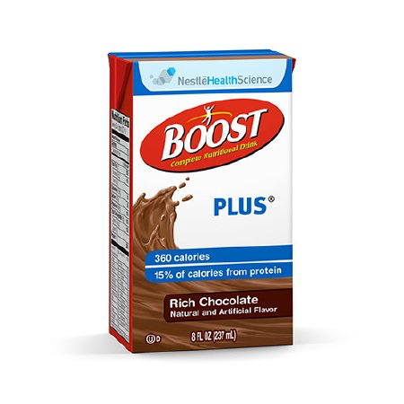 Boost Plus Chocolate - 8oz Tetra Brik - Nestle Nutrition Drink