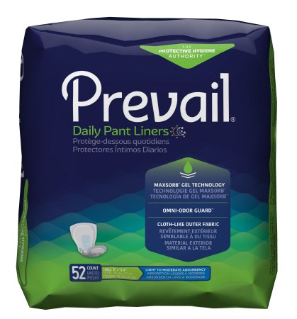 Prevail Daily Bladder Control Pad, Small, Moderate Absorbency