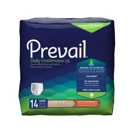 Prevail Daily Underwear, X-Large, Moderate Absorbency