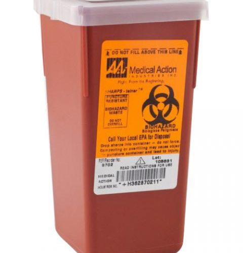 Sharps Container, 1qt, Red - 8702