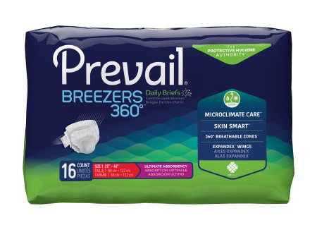 Prevail Breezers 360 Adult Brief, Size 1, Heavy Absorbency