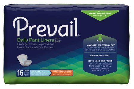 Prevail Daily Bladder Control Pad, Large, Moderate Absorbency