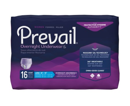 Prevail Women's Overnight Pull On Underwear with Tear Away Seams, Large, Heavy Absorbency