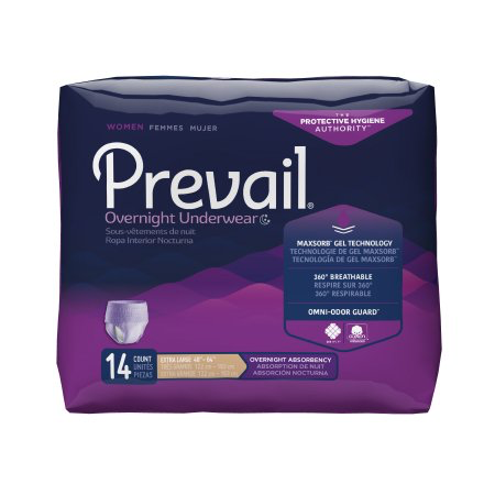 Prevail Women's Overnight Pull On Underwear with Tear Away Seams, X-Large, Heavy Absorbency