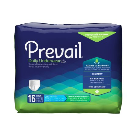 Prevail Adult Pull On Underwear with Tear Away Seams, Large, Heavy Absorbency