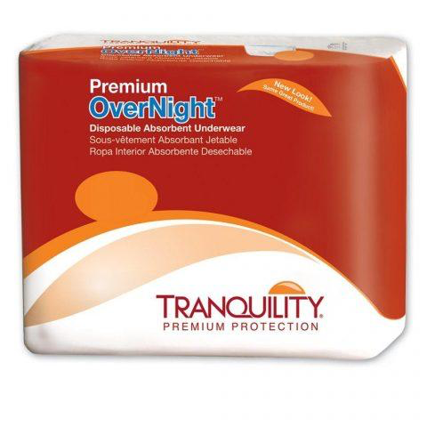 Tranquility Premium Overnight Disposable Underwear, 2X-Large, Heavy Absorbency, 2118