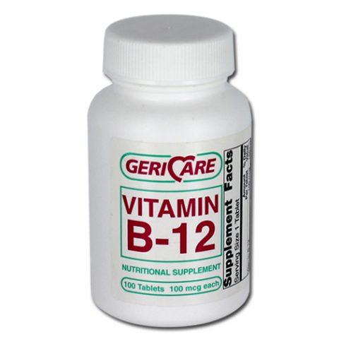 Vitamin B-12, 100mcg