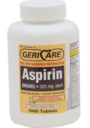 Aspirin Tabs 325mg (Bayer Substitute)