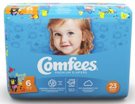 Comfees Baby Diapers Size 6 CMF-6