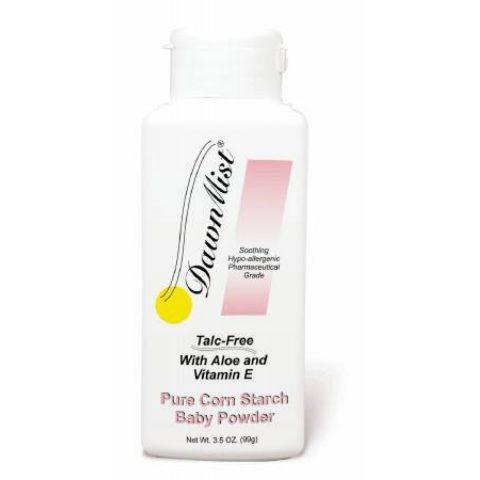 Dukal Baby Powder, amidon de porumb, cu aloe și vitamina E, 3,5oz BP35C