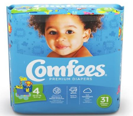 Comfees Baby Diapers Size 4 CMF-4